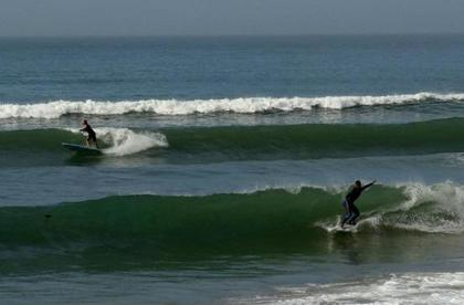Panorama beach is right south of Taghazout Morocco, a surfing prime region close to europe