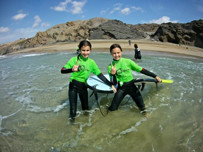 Kids surf courses in La Pared